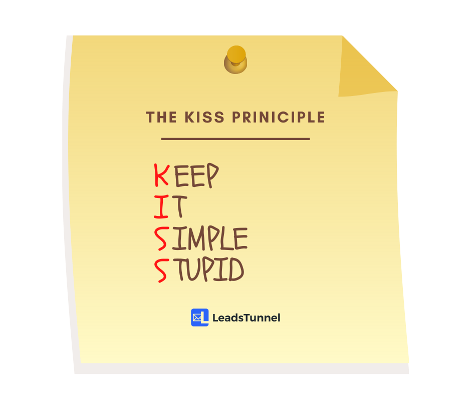 The KISS Principle LeadsTunnel